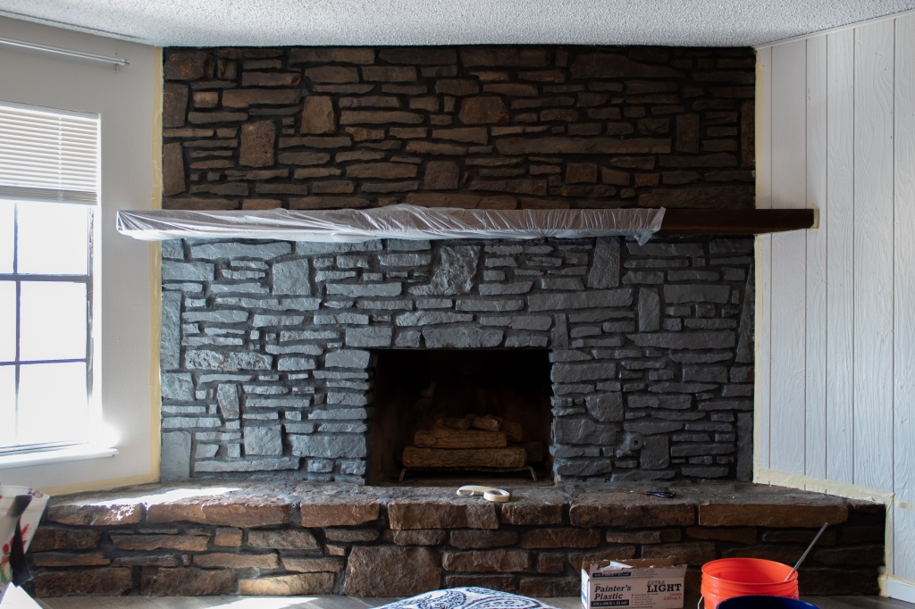 from drab to fab : german schmear stone fireplace – with love, mercedes