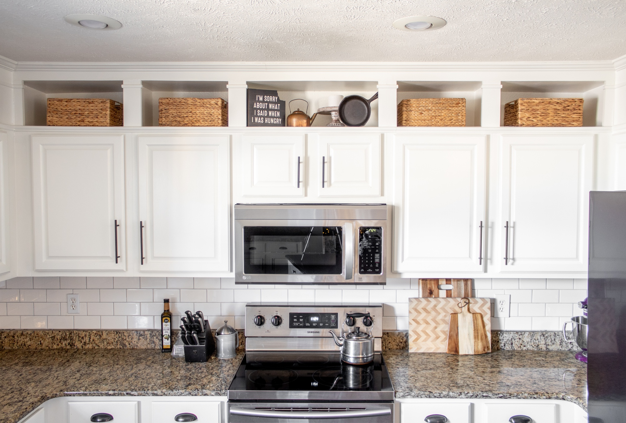 Kitchen Makeover Part 1 Farmhouse Touches And Ceiling Height Cabinets With Love Mercedes